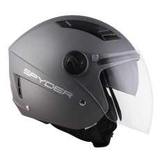 Spyder Open-Face Helmet With Dual Visor Titan Pd Series 0 By Spyder Adventure Outlets.