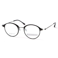 Stallane Fashion Optical Myopia Glasses Frame Retro Eyewear Aluminum Vintage Spectacle Round Rim Eyeglasses for Men (Black) - intl