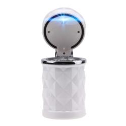 SUNSKY Diamond Facets Car Ashtray with LED Light (White)