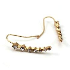 Sunyoo-High Quality 1 Pair Women Ear Hook Plated Crystal Rhinestone Ear Stud Ear Clip