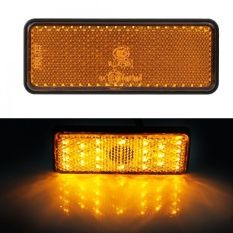 PHP 301. Sweatbuy Universal Motorcycle Scooter Moped Rectangle LED Reflector Tail Brake Light Stop ...