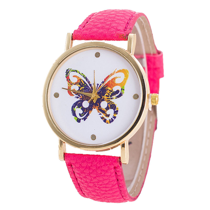 Sweet temperament colorful butterfly belt watch colorful student ladies quartz watch - Intl product preview, discount at cheapest price