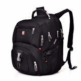 New Waterproof Oxford Backpack Men Casual Business 15 Inch Laptop Bagpack Swiss Travel Rucksack Black 15 Inches