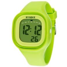 Synoke 66896 Women Waterproof Sport Watch Cool Fashion Digital Wristwatch Green