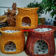 Double Layer Rattan Durable Removable And Washable Pet Bed By Taobao Collection.