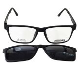 6c7bfce55d Temples Rx 1604COL2 Eyeglasses Sunglass (TR90 frame with Grey Mirror  Sunglass Lens Snap-on)