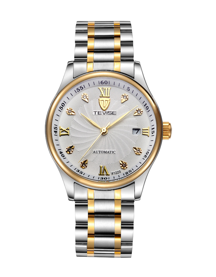Tevise 8122SSX-JB Top Brand Luxury Digital Casual Watch Men Business Wristwatch Automatic Mechanical Fashion Wrist Watches
