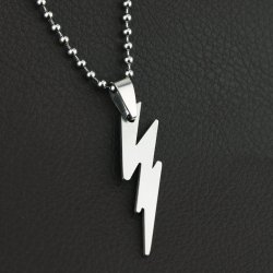 The Flash Charming Stainless Titanium Steel Silver Pendant Necklace (Intl)