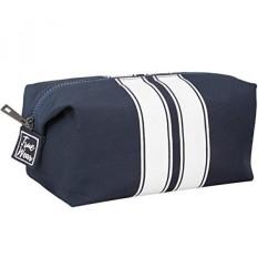 07c5b7348d Toiletry Bag Shaving Dopp Kit for Men Navy Blue with White stripes –  Stylish Unique Travel