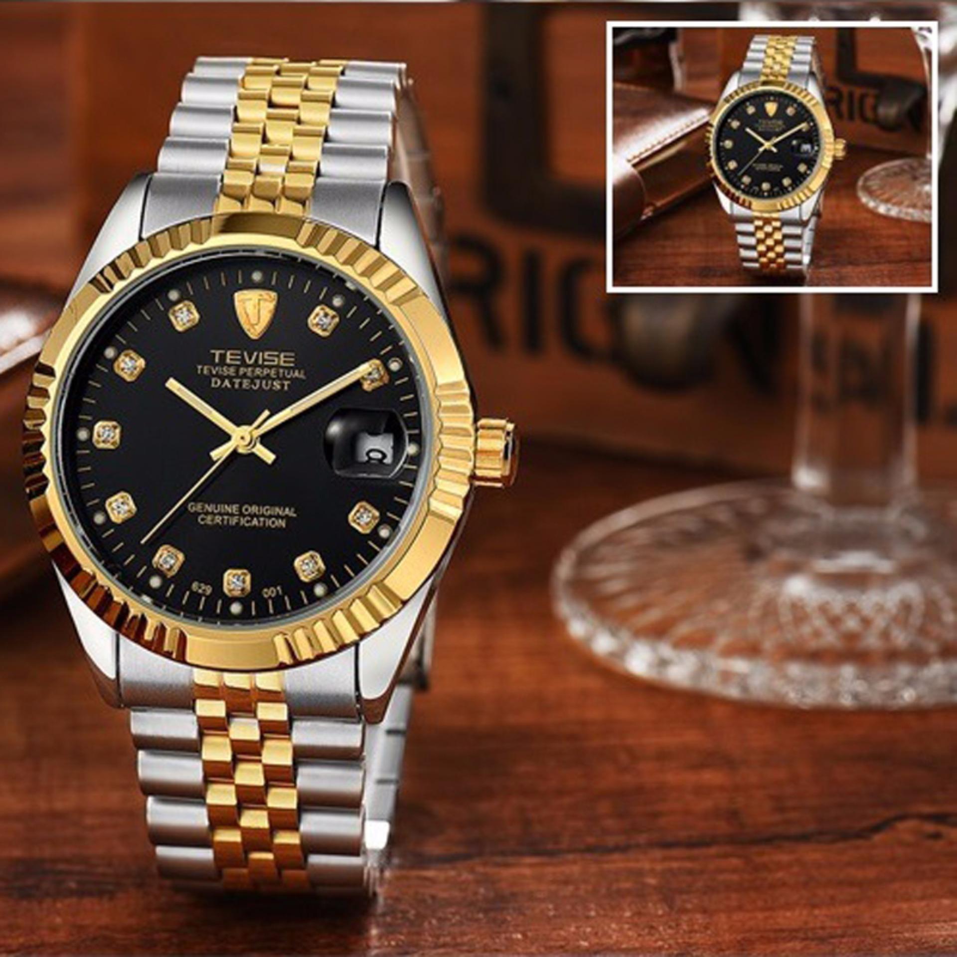 Top Brand Luxury Waterproof Automatic Watch Men Mechanical Watch Luminous Sport Casual Watch Relogio Automatico Masculino TEVISE(Black) - intl