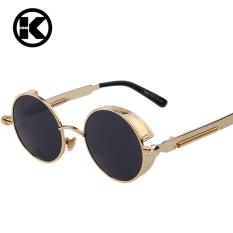0f9b690cf1 Top Designed Brand Gothic Steampunk Sunglasses Coating Mirrored Sunglass  Round Circle Sun glasses Vintage UV400 Sunglasses