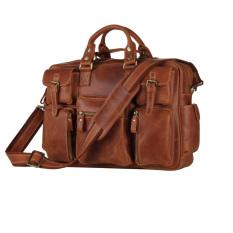 c1496c8bba88 Top Fashion Brand Rare Crazy Horse Leather Men s Briefcase Laptop Bag  Dispatch Shoulder Huge-Brown