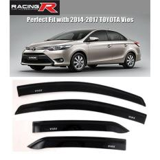 Toyota Vios 2014 to 2018 Window Door Visor Black