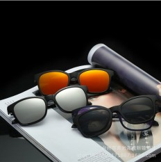5a4b32ec624 tr90 myopia glasses frame magnetic clip dual lens set retro polarized  sunglasses plain men and women - intl