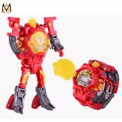 Transforming Robot Watch Toys LED digital Watch 2 in 1 (Red)