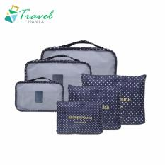 f0407ee3e6 Travel Manila 6 in 1 Packing Bags (Polka Navy Blue)