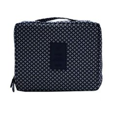 709678dc04 Travel Portable Waterproof Multi-Pouch Toiletry Cosmetic Bag (Navy Blue  Printed)