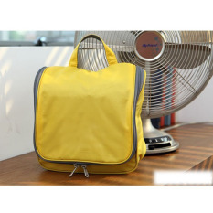 Travel Toiletry Wash Cosmetic Bag Waterproof nylon Fabric Storage Bag Gold - Intl