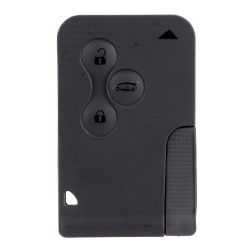 Uncut Remote  Key Card Shell Case for Renault Megane 3 Buttons + Blade.