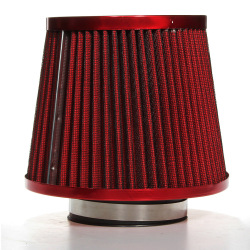 Universal Car Air Filter Vehicle Induction High Power Mesh Cone Red