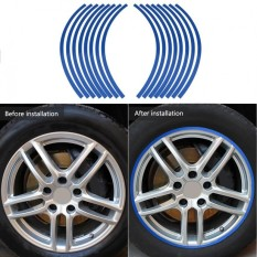 Universal Car Motorcycel Wheel Kit Reflective Pinstripe Decal Tape Sticker Decoration Film 6 Colors - Intl By Qilu.