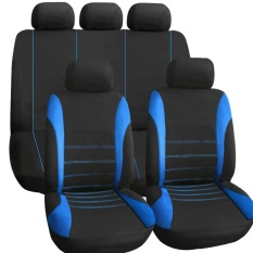 Attractive Universal FULL Car Seat Cover Set 9Pcs Full Seat Covers Front Seat Back Seat  Headrest Cover