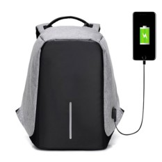 Usb Charging Laptop Backpacks School Multifunction Waterproof Anti Theft Back Pack For Male Female Teenager Bags (grey) By Happy Choice.