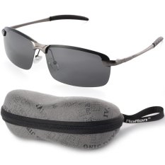 508e1d8cb3 UV400 Polarized Glasses Outdoor Sports Driving Sunglasses Black+Grey Frame  OS387-SZ