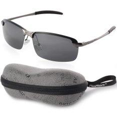 fa7962abc0 UV400 Polarized Glasses Outdoor Sports Driving Sunglasses Black+Grey Frame  OS387-SZ