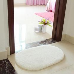 VAKIND Slip-Resistant Pad Room Oval Carpet Floor mats 40*60CM White