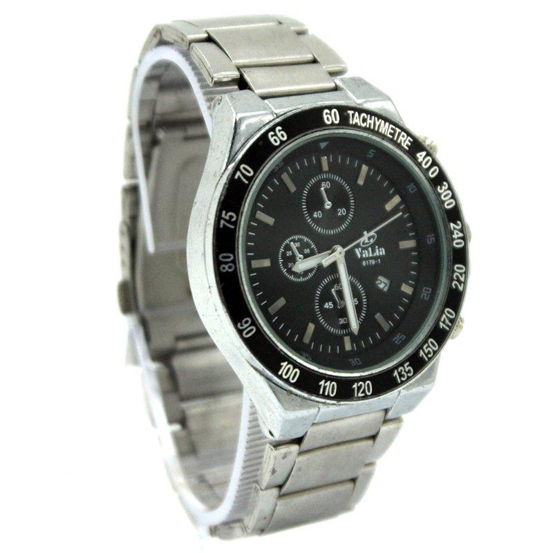 Valia Rio Unisex Black Stainless Steel Strap Watch 8179 1
