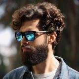 3e35f322f7f VEITHDIA 387 Fashion Alloy Frame Square Polarized Sunglasses Men Driving  Glasses grey blue - intl