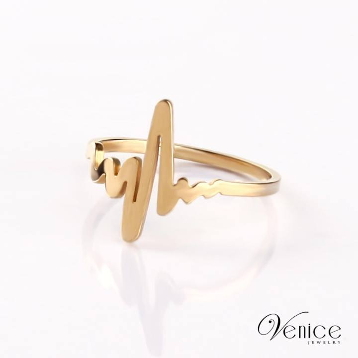 "Venice Lifeline Gold Plated Ring ""8"""