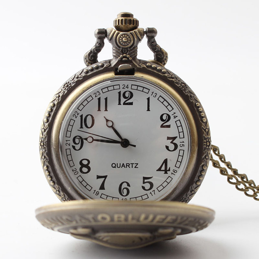 Vintage CrossBones Bats Quartz Watches Pocket Watch Key Ring Necklace Gift - Intl - thumbnail