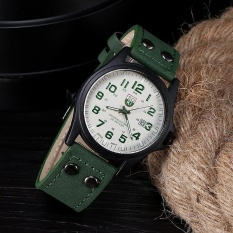 Vintage Mens Waterproof Date Leather Strap Sport Quartz Army Watch GN - intl