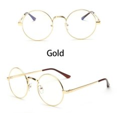 c499b70f73 Vintage Round Eye Glasses Frame Men Women Brand Designer Reading Metal  Circle Frame Optical Eyeglasses Eyewear