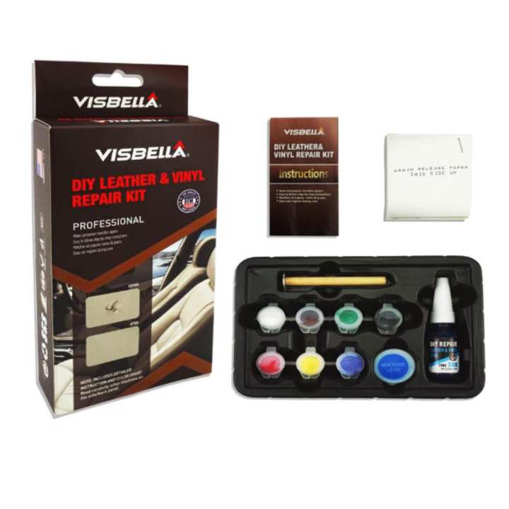 Leather Furniture Repair Kits Reviews: Visbella Leather Vinyl Repair Kit Auto Car Seat Sofa Coats