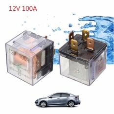 Waterproof Car Automotive Auto 12v 100a 4pin Control Device Relay Transparent - Intl By Teamwin.