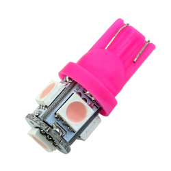 Wedge Light Bulb XENON Car Tail Lamp (Pink) (Intl)