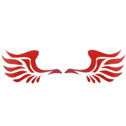 Wing Design Sticker For Car Side Mirror Rearview (Red)