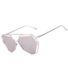 Winleworld Twin-Beams Geometry Design Women Metal Frame Mirror Sunglasses  Cat Eye Glasses 27a122bf25b4