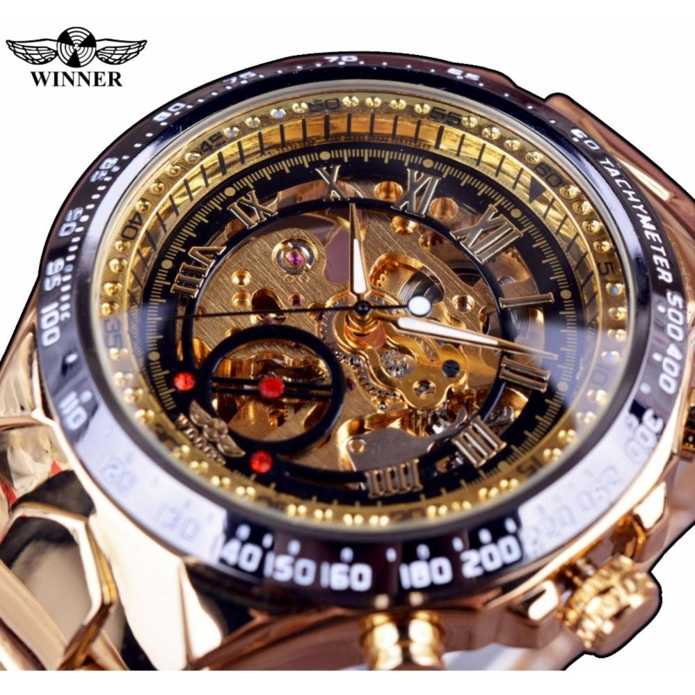 a9b1f71aba9 Winner New Number Sport Design Montre Homme Bezel Gold Mens Watch Watches  Top Brand Luxury Watch