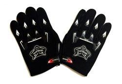 Wolf-Type Motor Protective Fingerless Gloves Black