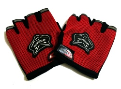 Wolf-Type Motor Protective Fingerless Gloves Red