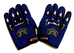 Wolf-type Motor Protective Fingerless Gloves Whole (Blue)