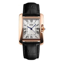 Women Watches 2016 Luxury Brand Quartz Watch Fashion Casual LeatherStrap Gold Women Dress Watches Montre Femme quartz-watch(Black) - intl