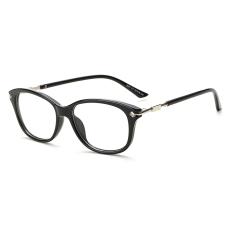 Women's Eyewear Fashion Rectangle Glasses BrightBlack Frame Glasses Plain for Myopia Women Eyeglasses Optical Frame Glasses
