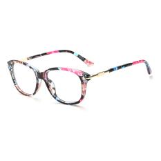 Women's Eyewear Fashion Rectangle Glasses Multicolor Frame Glasses Plain for Myopia Women Eyeglasses Optical Frame Glasses