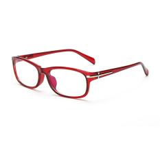 Women's Eyewear Fashion Rectangle Glasses Red Frame Glasses Plain for Myopia Women Eyeglasses Optical Frame Glasses