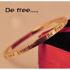 Women's Simple Cuff Bracelet Bangle Jewelry Gift (Be Free Spirited, Live, Love and